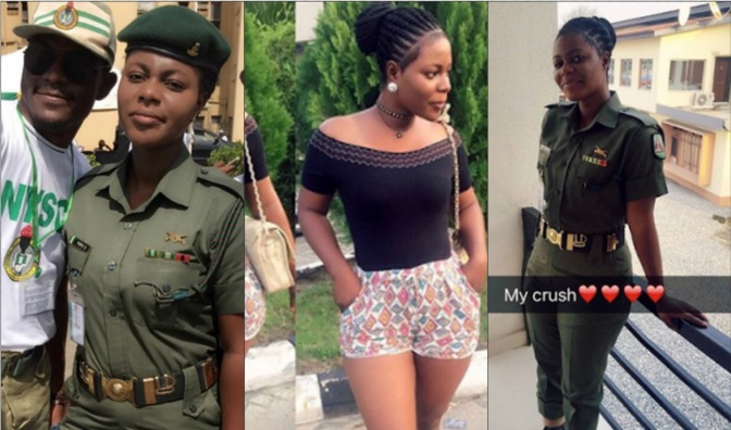 Photos: Pretty Female Soldier Posted To NYSC Camp in Lagos will Blow you Away