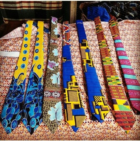 Unilag Law Student Makes Ankara Ties